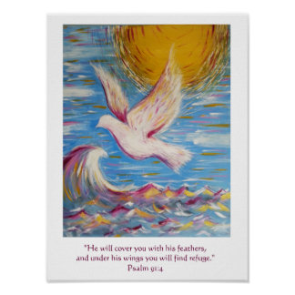 Psalm 91 Poster Christian Art