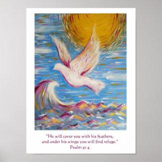 Psalm 91 Poster Christian Art