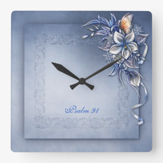 Psalm 91 ^  Square Square Wall Clock