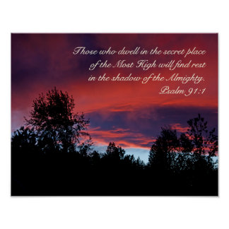 Psalm 91 Those who dwell in the secret place, Poster