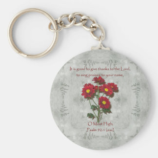Psalm 92:1 ~ Give Thanks to the Lord Basic Round Button Keychain