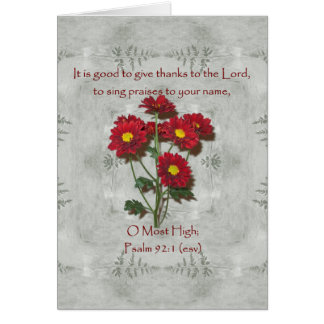 Psalm 92:1 ~ Give Thanks to the Lord Card