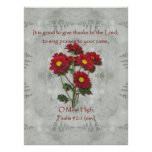 Psalm 92:1 ~ Give Thanks to the Lord Posters