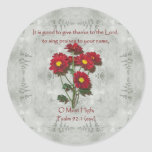 Psalm 92:1 ~ Give Thanks to the Lord Classic Round Sticker