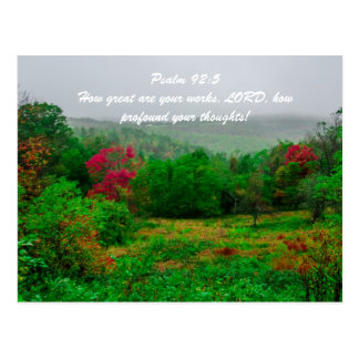 Psalm 92:5 How great are your works, LORD, how pro Post Cards