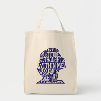 Psalm 94:19: God's Comfort Grocery Bag Blue Quote