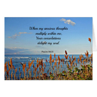 Psalm 94:19 When my anxious thoughts... Greeting Card