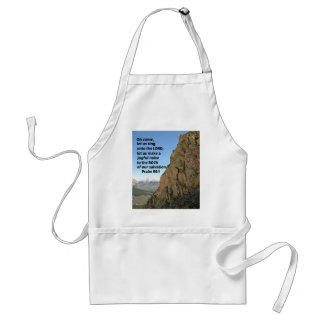Psalm 95:1 O come, let us sing unto the Lord Adult Apron