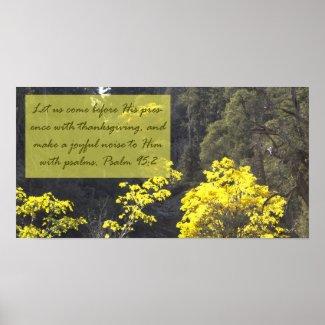 Psalm 95:2 Poster print