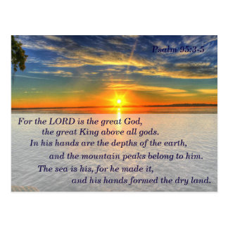Psalm 95:3-5 Christian Scripture Memory Card