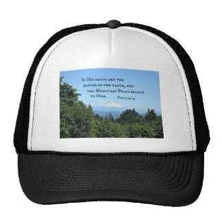 Psalm 95:4 In His hands are the depths Trucker Hat