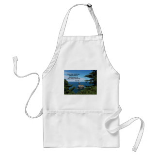 Psalm 95:6 Come let us bow down in worship... Adult Apron