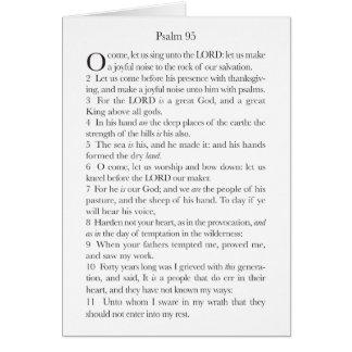 Psalm 95 card