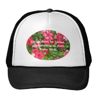 Psalm 96:12 - Flowers Mesh Hat