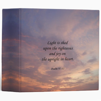 Psalm 97:11 Light Sky Vinyl Binders