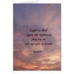 Psalm 97:11 Light Sky Cards