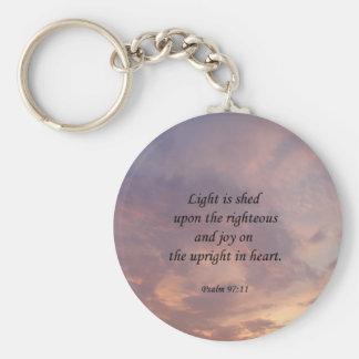Psalm 97:11 Light Sky Key Chain