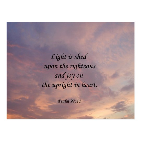 Psalm 97:11 Light Sky Postcard