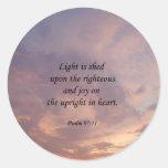 Psalm 97:11 Light Sky Round Stickers