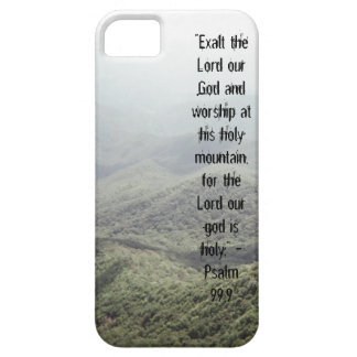 Psalm 99:9 iPhone 5 cases