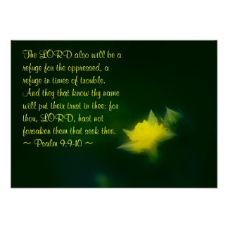 Psalm 9:9-10 poster