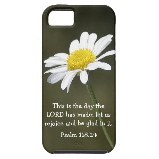 Psalm bible verse and daisy iphone case iPhone 5 cases