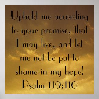 Psalm bible verse sunset sky poster