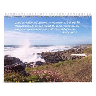 Psalm Inspirational Verse Ocean Calendar