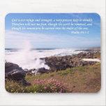 Psalm Ocean Beach Mouse Pad
