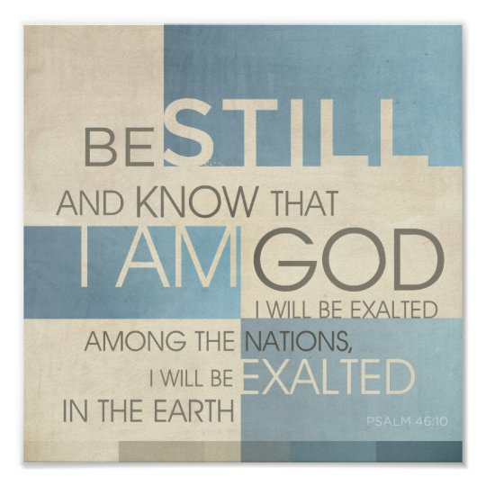 Psalm Scripture Collage II Poster
