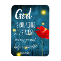 Psalm Scripture Magnet | Inspirational Bible Quote