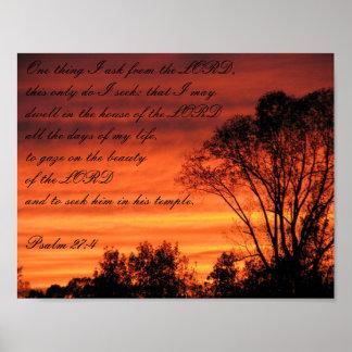 Psalm Sunset Poster