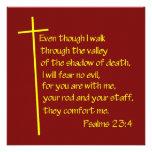 Psalms23-4 Yellow Invitations