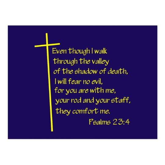Psalms23-4 Yellow Postcard