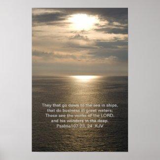 Psalms 107: 23, 24 print