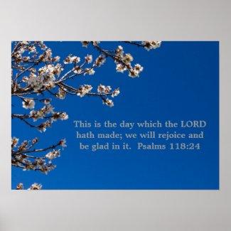 Psalms 118:24 poster print