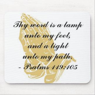 Psalms 119:105 Mousepad