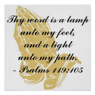 Psalms 119:105 Poster