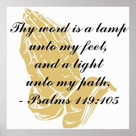 Psalms 119:105 Poster