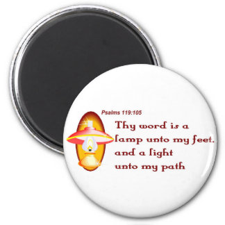 Psalms 119,105 thy word is a lamp 2 inch round magnet