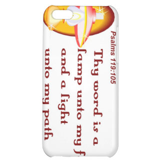 Psalms 119,105 thy word is a lamp cover for iPhone 5C