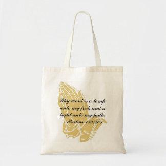 Psalms 119:105 Tote Bag