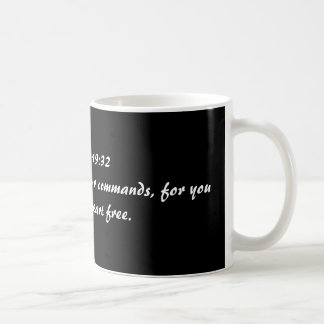 Psalms 119:32  I run in the path of your commands, Coffee Mug