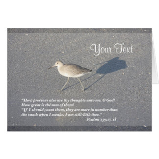Psalms 139:17-18 greeting card