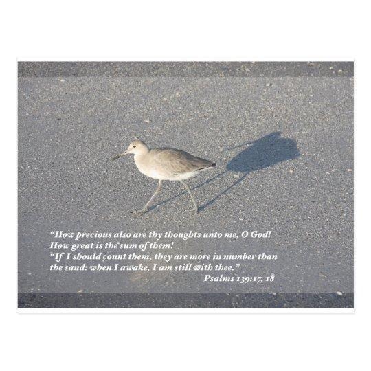Psalms 139:17-18 postcard