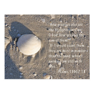 Psalms 139: 17-18, Shell Version Postcard