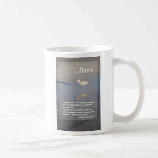 Psalms 139: 17-18, Vertical Classic White Coffee Mug