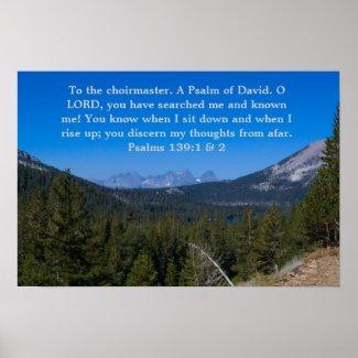 Psalms 139:1&2 poster print