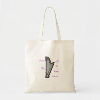 Psalms 150 & Harp Budget Tote Bag