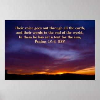 Psalms 19:4 poster print